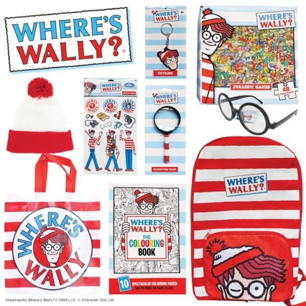 Where's Wally Showbag Merchandise Object Product Stationery Backpack Bag