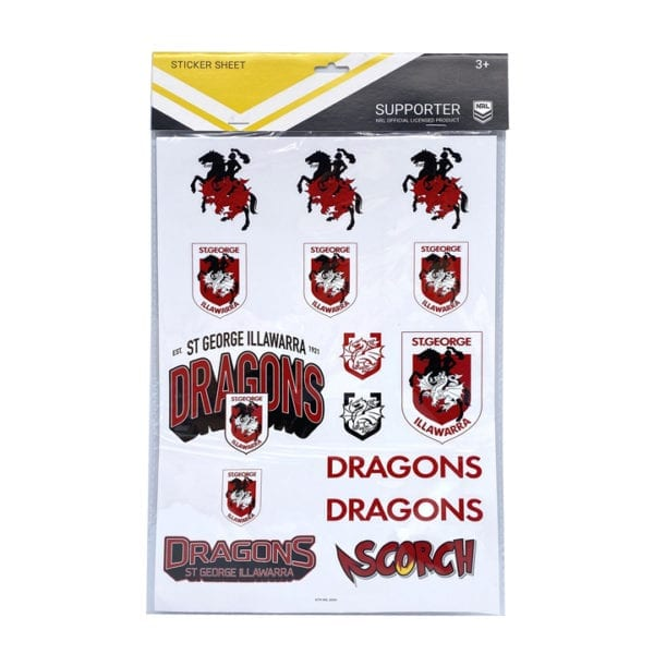 NRL St George Dragons Showbag merchandise toy product stationery accessories bag